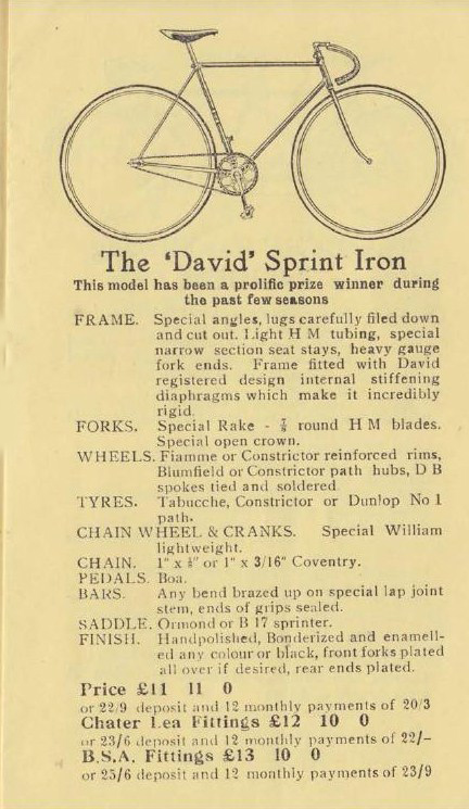 Extract from The David sales catalogue