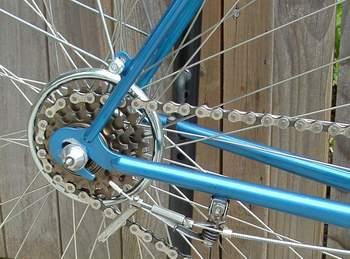 Osgear Super Champion 4-speed changer mounted on chainstay braze-on bracket