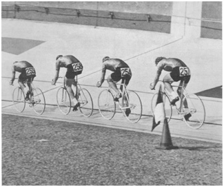 1975 UCI world championships: Soviet Union team pursuit squad winning the silver medal