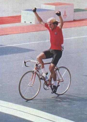 1980 Olympic road race: Sergei Soukhorouchenkov (USSR) wins