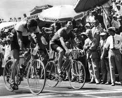 1960 Olympic road race: Kapitanov (USSR) beats Trapê (Italy) for the gold medal. Kapitanov won the race on an Italian Cinelli machine
