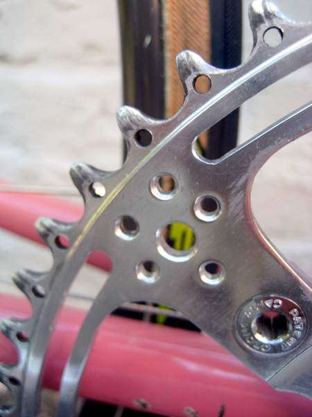 Chainring lightening includes drilling on every tooth plus milling and drilling