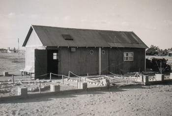 The Exiles Clubroom on the RAF base in the desert