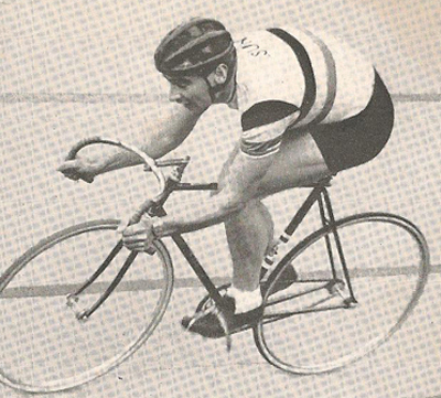 Sid Patterson: Australian multiple world track champion and twice winner of the 'Austral' off scratch.