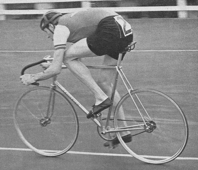 Coventry CC's Easter Monday International at the Butts Track, 1960 Mike Gambrill winning the second 4000 metres pursuit