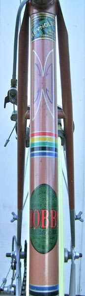 Seat tube showing transfers and lug lining