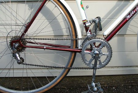Simplex front and rear gears, Stronglight/TA chainset