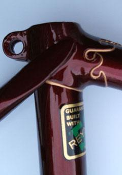 Three views of Hobbs Superbe lugwork and fork crown