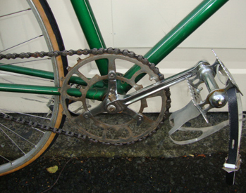 Chater-Lea inch-pitch chainset with Chater pedals