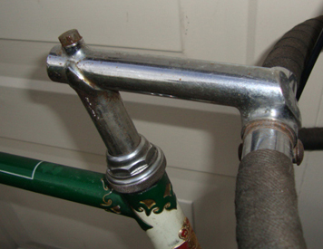 Presto steel drop-head stem and fancy lugwork on head lug