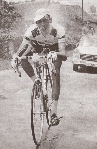 Bob Addy being hosed down by spectators in the 1968 Tour de France