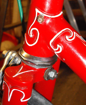 Holmes lugwork lined on top of lugs - Bradford style!