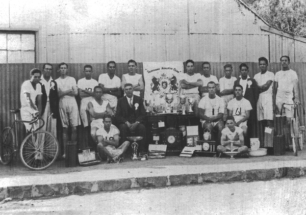 Selbourne Athletic Club - date unknown Back row, second from left - James Goliath This Kimberley club included cyclists. James Goliath is one who excelled at the 1953 national championships.