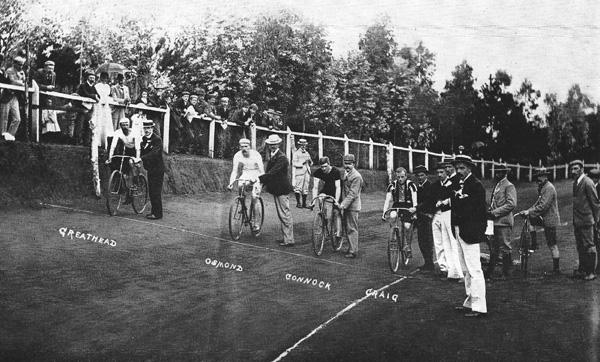 Start of a track race: Wanderers Club, Johannesburg 1896