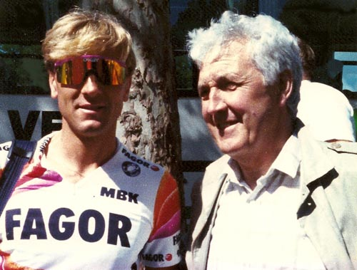 To conclude, I have enclosed this one with fellow Sheffielder Malcolm Elliott at the 1988 Tour de France just as an example of the success of the North Mids Section/Division riders I've written about. He's just one of the many which includes Tom Simpson and more recently Russell Downing, Ben Swift and Adam Blythe (who's grandad Ron I rode against in the 1950s).