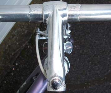 GB alloy Spearpoint stem with GB 'Pelissier' bars with engraved ferrule