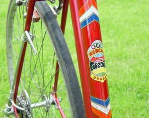 Control lever on seatstay for Paris/Roubaix gear