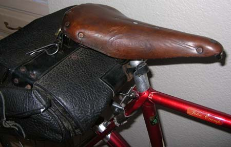 Seat cluster and Brooks B37 saddle