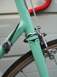 Front end with period Simplex gear lever and GB Coureur brake
