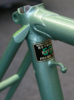 Three frame details including rear end with frame number 018197 or possibly 013197