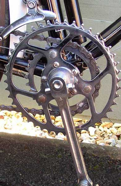 Rare Simplex Touriste double chainrings on BSA cranks