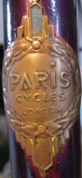 Rare brass 'Paris' headbadge