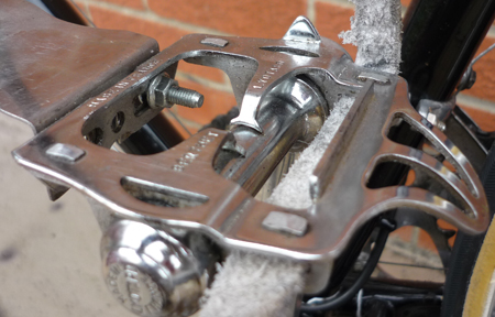 NOS Lyotard Marcel Berthet platform pedals, also marketed as Continental racing pedals by Brown Bros.