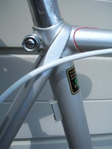 Seat cluster showing braze-on clip for Pennine air pump