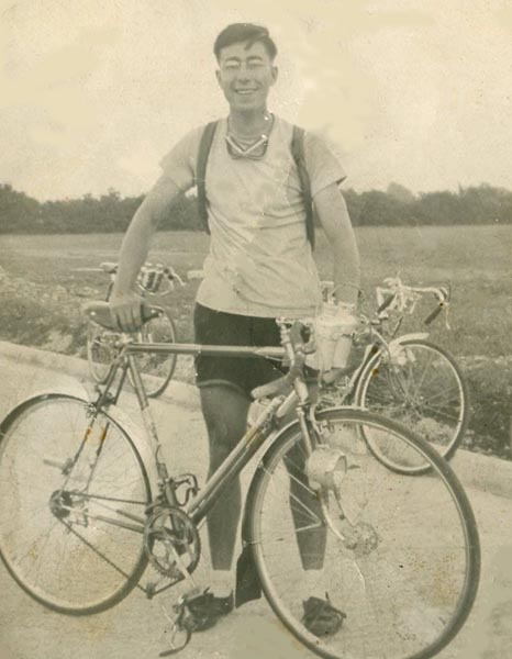 Dennis Harber, original owner, with the Holdsworth