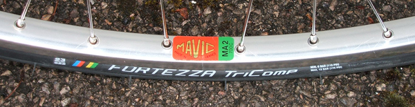 Early Mavic MA2 label