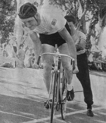 VERSATILE TOMMY GODWIN Popular British Captain at the start of the 1000 metres which he won, Paarl 19th January