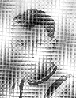 Tommy Godwin, aged 31, captain, toured South Africa with last British team in 1948. Utility man of the team. Has had two trips to New Zealand since 1948, i.e. New Zealand Centenary Games and 1950 British Empire Games.