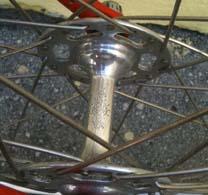 One-piece alloy Pista hub