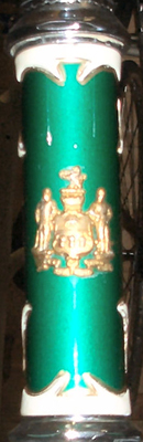 Head badge made by Eric from a tram driver's cap-badge