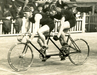 Jack Sibbit, tandem captain with Dennis Horn as 'stoker' winning one his eight tandem championships