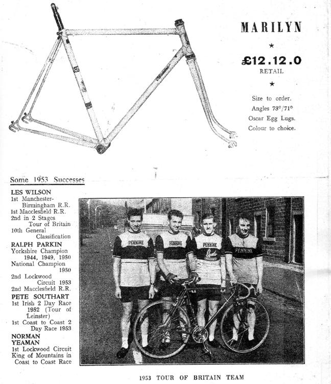 (Image above from Pennine Catalogue - Derek Browne)