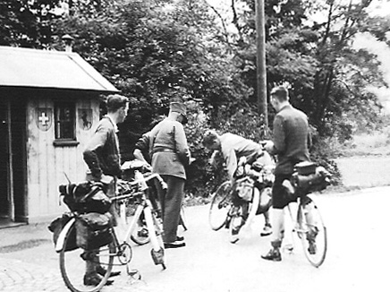Being searched by German border guards in the summer of 1939 a couple of months before war was declared by GB.