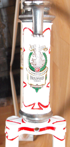 Ken Russell head/down tube transfer with Tour of Britain winner design
