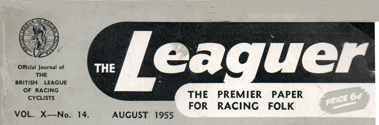 Headline banner of The Leaguer from 1955.