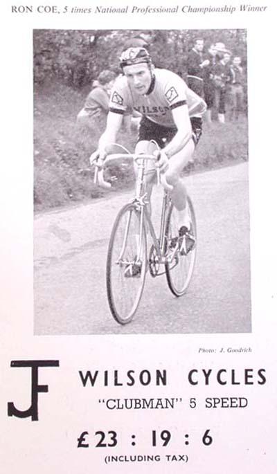 Ron Coe in J F Wilson advert