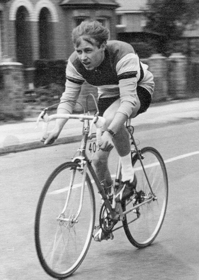 Stan Mawson on his Woodrup in the 1967 Redhill 2-day time trial.stage